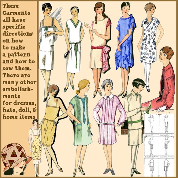 1920s Patterns – Vintage, Reproduction Sewing Patterns 1929 Easy Ways to Pretty Frocks Patterns $4.99 AT vintagedancer.com