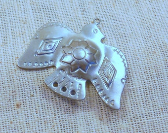 Raw Steel Thunderbird Pendants (4) Eagle, American Southwest, Tribal