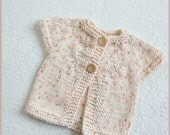 Knitting Pattern - Baby Sweater - Lil Love - Knitting Pattern for Babies Sizes 0-12 months