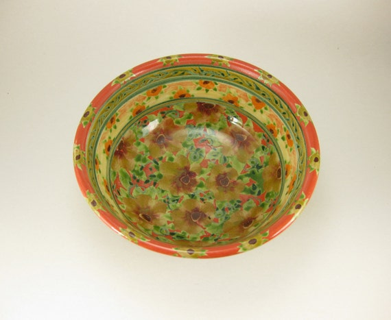 "Orange 7"" porcelain serving bowl"