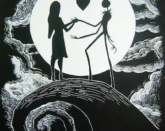 Jack & Sally, Nightmare Before Christmas,  Art