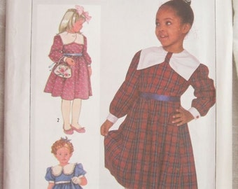 Simplicity 7631 Girls Dress Vintage Sewing Pattern