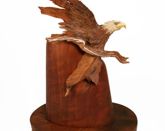 Silver Streak Original Rick Cain Eagle Sculpture 2014