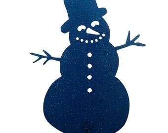 Hand Made Snowman Blue Yard Art *NEW*
