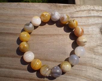 Botswana Agate Stretch Bracelet