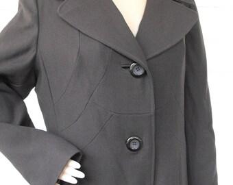 Vintage Brown Coat Juli de Roma L M Long Winter 70s