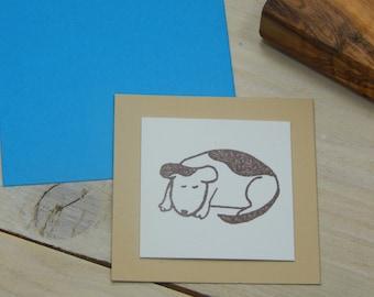 Charity Stamp Slumber Dog Olive Wood Stamp