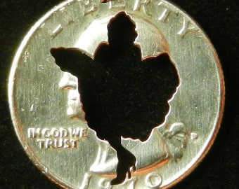 Marilyn Upskirt Hand Cut Coin Jewelry
