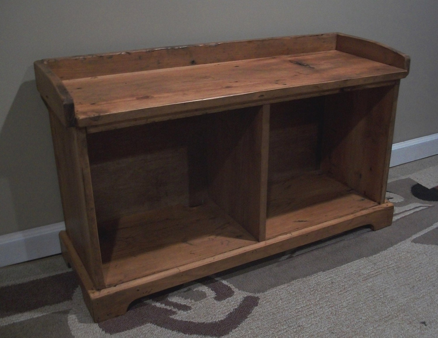 Foyer Bench Quote : Reclaimed wood entryway bench custom for by