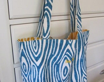 Willow - Aquaris - Reversible Tote (Daily Carryall) - Only Totes by JD Designs
