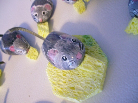 Munchie Mouse Rock Art--Painted Stone