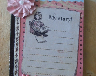 Vintage Inspired My Story Altered Composition Book