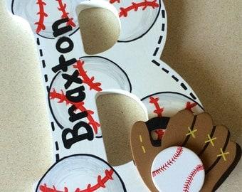 Sport themed letters - baseball letters - custom sport letters - baseball football soccer basketball - sport logo letters