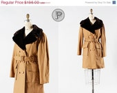 70% OFF - LAST DAY // 1960s coat large / 60s 70s faux fur coat : Mod Moods