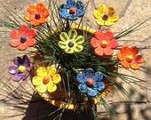 Custom Flower Art Stakes