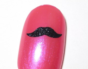 Toe nail / finger nail art Mustache decals / stickers / pedicure