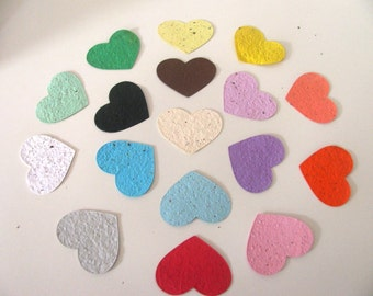 25 Seed Paper Hearts