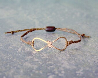 Textured Rose Gold Infinity Bracelet For Men and Women