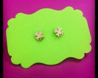 Silver 4 leaf clover Stud Earrings