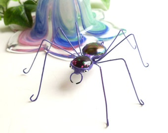 Medium Purple Spider Handmade Perfect Gift for Nature Lovers Bug Lovers Gift for Teenagers Home Decorating in Nature Theme Unique Spider