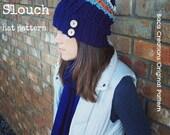 PDF Crochet Pattern - Pink mini slouch hat oversized child toddler teen woman men girl boy buttons crochet