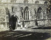 Vintage Photo - Ladies Visiting Bangor Cathedral in Wales, UK