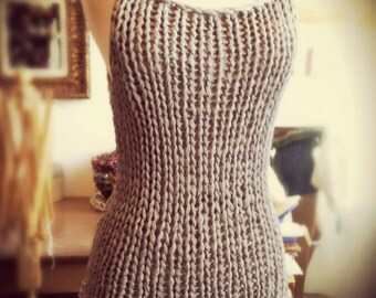 Instructions to make: a Simple Tank Knitting Pattern PDF ONLY
