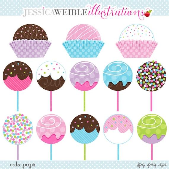 Cake Pops Cute Digital Clipart