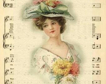 Oh, My Darling Clementine Digital Art Collage Digital Download Instant Download