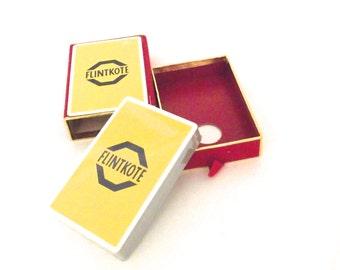 """Vintage Unused Package of Advertising """"Flintkote"""" Playing Cards in Slipcase Box"""