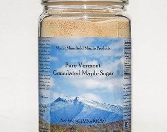 Pure Vermont Maple Granulated Sugar- 23oz Jar