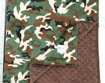 Minky Blanke t- Camo Double Minky Baby Blanket From Kemaily