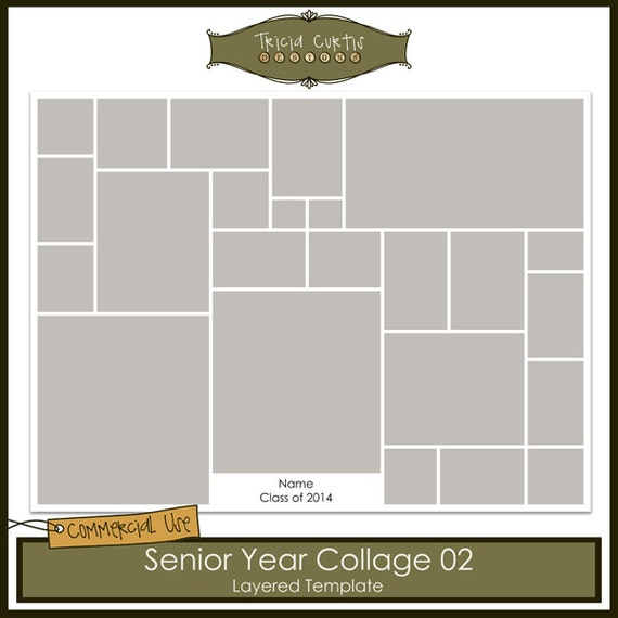 Senior year collage 02 template for Senior photo collage templates
