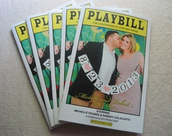 PLAYBILL - Wedding Program / Welcome Wedding Guide
