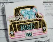 Diva Truck applique embroidery design