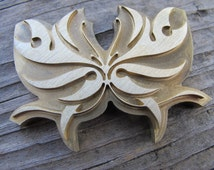 Tribal Butterfly Brass Leather Craft Stamp Tool Embossing Die