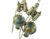 Statement Earrings - World Travel Jewelry - World Earrings - Mini Globe Earrings - Travel Gift For Women - World Traveler