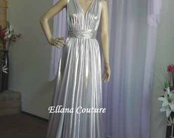 Sample Sale. Retro Inspired Bridal or Evening Gown.