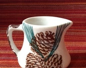 PINECONE Needles Pine TEPCO handle CREAMER Pitcher 2 & three-quarter inch