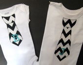 Personalized Big Brother Little Brother Tie Shirt Chevron You Choose