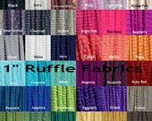 Ruffle Crib Skirt or Bed Skirt - Lots of Colors