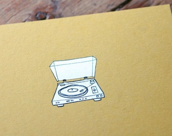 Turntable Notebook - Vintage Record Player Cahier