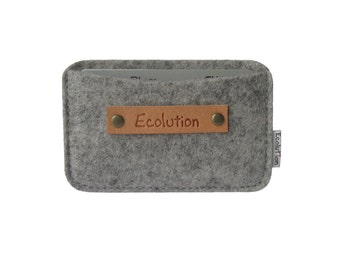 Business Card Holder-Wallet-Eco Friendly - Charcoal - Silver Grey- Handmade- Great Gift for men
