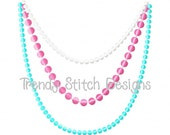 Pearls Necklace Embroidery Design Machine Embroidery INSTANT DOWNLOAD Pearl