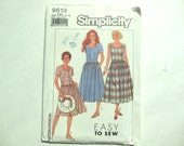 Simplicity 9613 Misses/Petite Dress or Jumper in Two Lengths