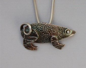 silver armadillo necklace, lizard, wild thing, reptile pendant, anteater necklace, made in america, cyber monday etsy