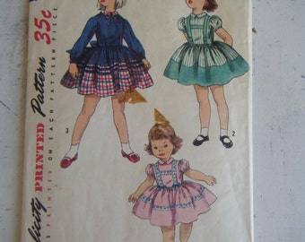 Simplicity Pattern 1744 - Girls 1 pc. Dress