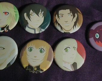 Tales of Xillia button sets