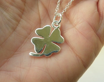 50% off this item, enter LOVE99 at checkout, Lucky Charm Necklace, Bridesmaid Jewelry, Bridesmaid Gift, Mother's Day Gift, Four Leaf Clover