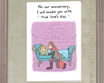 Princess - Anniversary Card